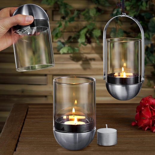 Gravity Candle Lantern Ingenious: The gimbal mounted lantern - quickly and cleanly extinguished in the blink of an eye.
