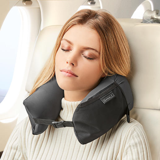 3-in-1 Travel Pillow - Ingeniously multifunctional: Neck pillow, head pillow and pillow topper in a single product.