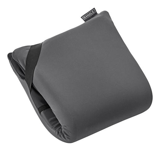 "8cm (3.1"") thick memory-foam comfort pillow when folded double."