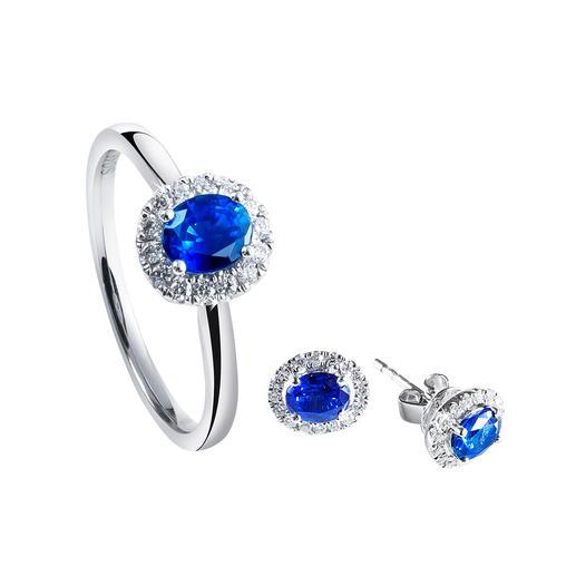Sapphire Ring or Stud Earrings