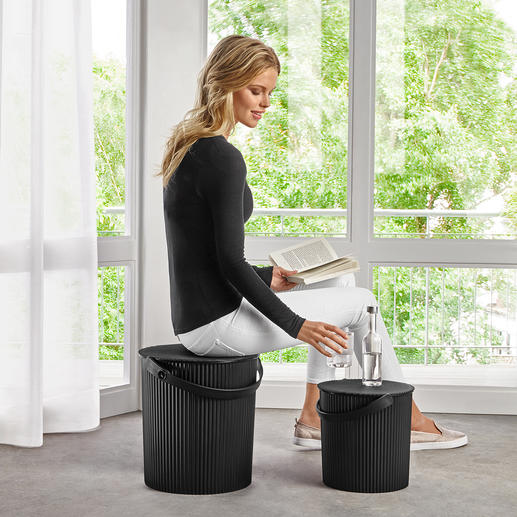 Multi Design Bucket Sophisticated, stylish vases: Robust lidded buckets in award-winning groove design.