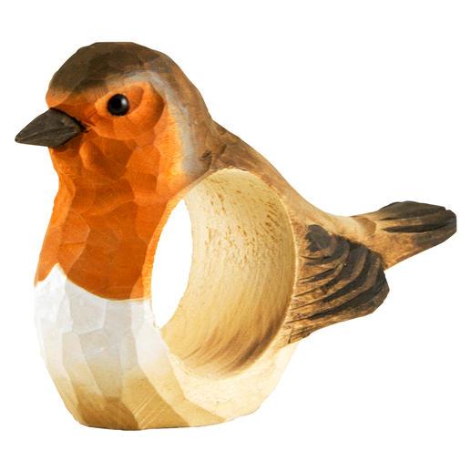 Napkin Rings Birds, Set of 6