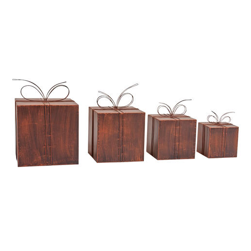 Metal Decorative Packages - Heavenly Christmas post. Lovely for inside or out.