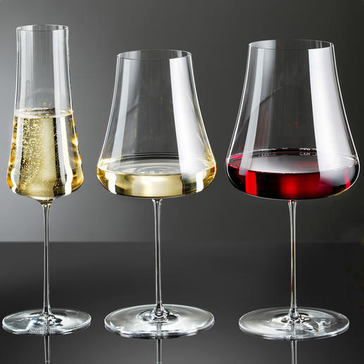 Wine Glasses Stem Zero, Set of 2 Wonderfully delicate and elegant. Nevertheless, extremely resistant to breakage.