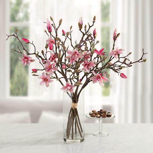 Magnolia Bouquet Everlasting beauty: Seven twigs make a fine bundle – as elegant as naturally grown.