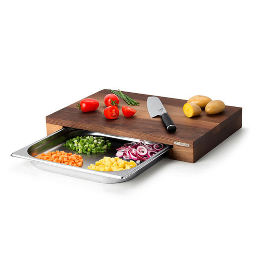 Professional Cutting Board With Collection Tray Saves time, effort and washing up.