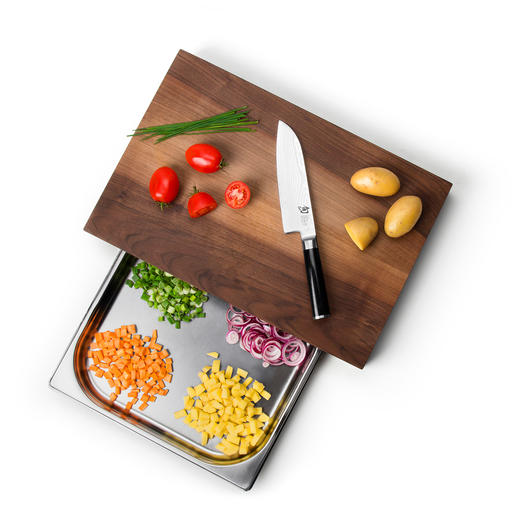 Professional Cutting Board With Collection Tray