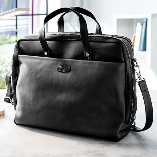 Oconi Multiway Business Bag Probably your most versatile business bag. Made of chic cowhide leather. By Oconi.
