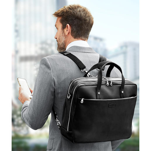 You can carry your laptop bag comfortably on your back with the adjustable backpack straps.