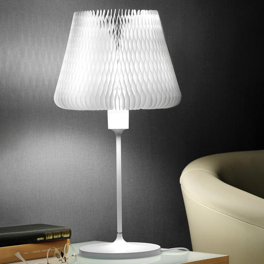 Table Lamp with Variable Lamp Shade One table lamp – 12 different looks. In excellent design.