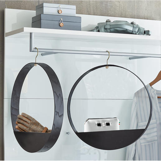 Hook Shelf - Brilliant Finnish design: The wooden clothes hanger with a practical storage compartment.