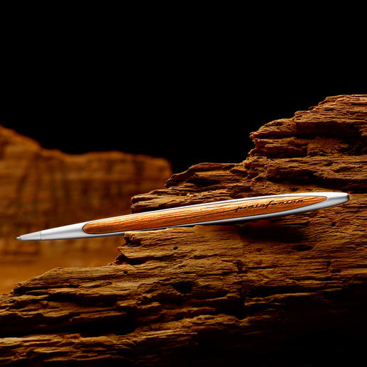 Pininfarina Kauri Wood Ballpoint Pen - The typical signature of Pininfarina.  Exclusively for Pro-Idee customers.
