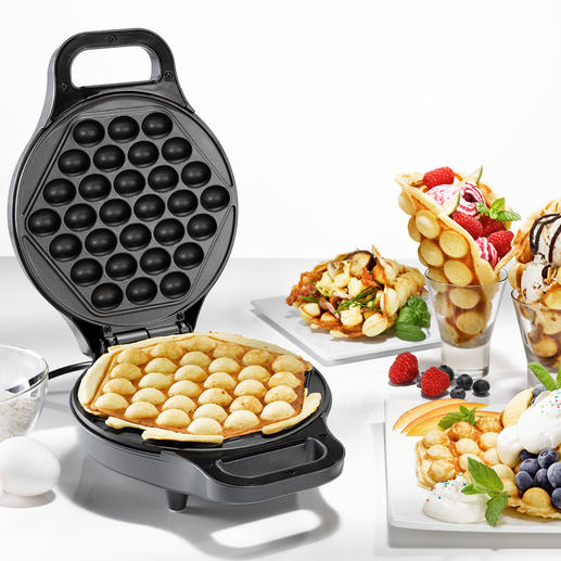 Egg Waffle Baking Machine Bubble waffles – the irresistible food trend from China. Easy to make at home.