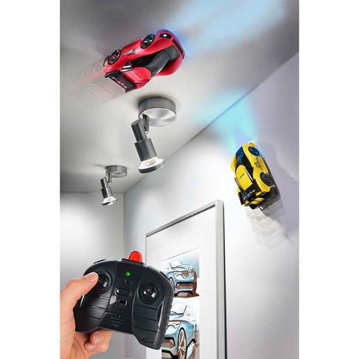 Climbing Racecar, Set of 2 For exciting car race on the wall and ceiling.
