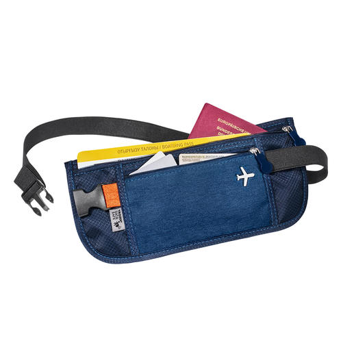 RFID Travel Organiser or Belt Bag Relaxed travelling: All tickets, passes, papers and currencies securely stored and organised, ready to hand.