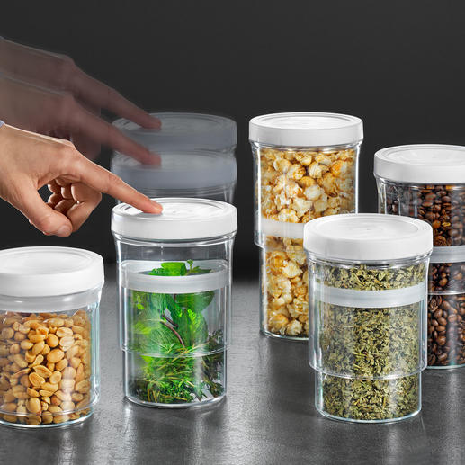 Multi-Size Storage Boxes, Set of 5 Save space. And protect your food from ambient oxygen and moisture.