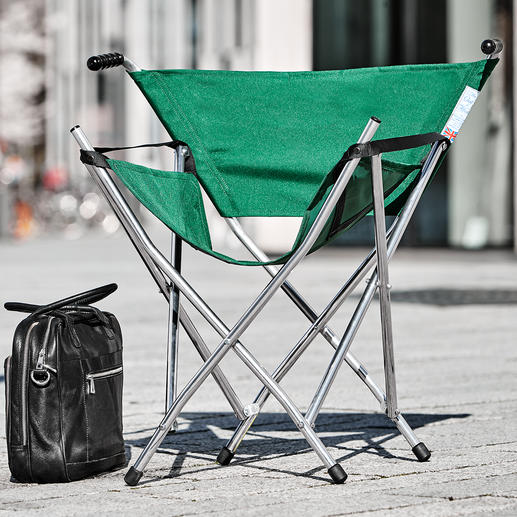 Aluminium Folding Seat - Your folding seat for festivals, race week, picnics, fishing, leisurely visit to a lake, etc.