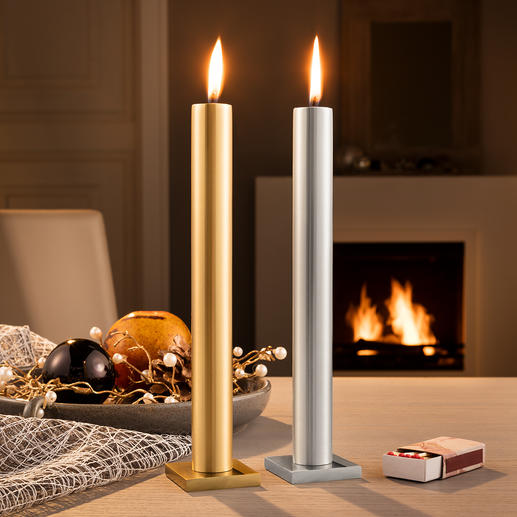 """Eternal"" Candle Amazing effect: Stylish stick candle which never seems to burn down."