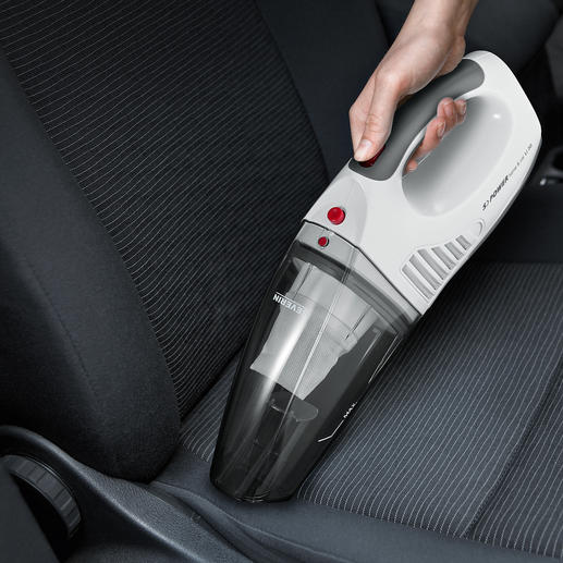 S'Power® Battery Hand Vacuum - Vacuums up wet and dry. Runs on battery and 12V plug-in.