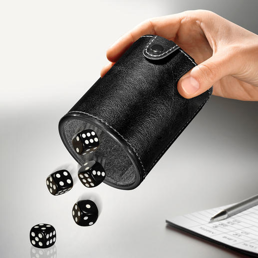Dice Cup to Go - With storage compartment and cushioned interior. Great fun on the go.