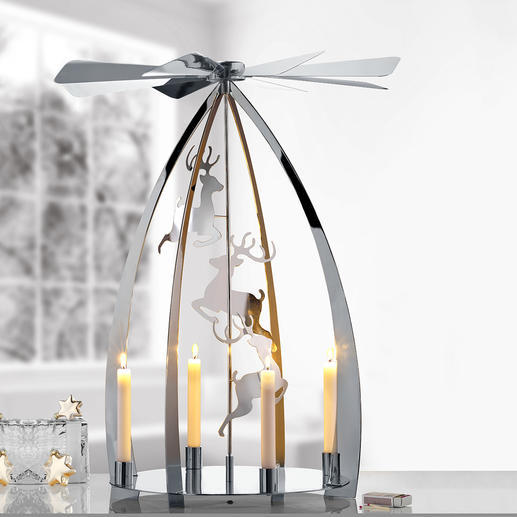 Modern Christmas Pyramid Probably the most beautiful Christmas classic – now in a modern, high-gloss design.