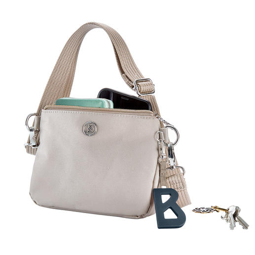 Bogner 4-in-1 Bag Combines four bags in one: Shoulder bag, cross-body bag, belt pouch and cosmetic bag.