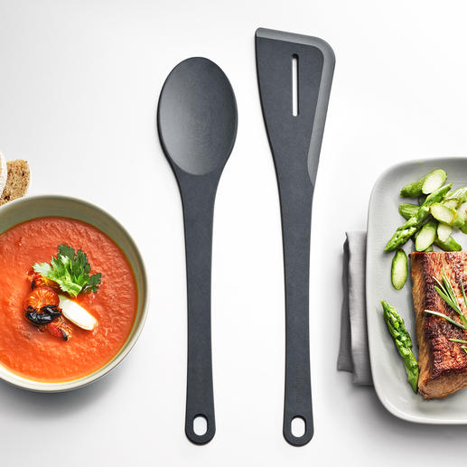 Richlite® Spoon and Spatula Indestructible kitchen utensils made of laminated wood fibre. Made in the USA.