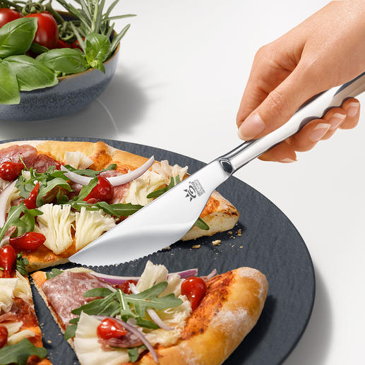 Pizza Knife, Set of 6 - Easily and cleanly cuts crust and toppings. And matches any cutlery. Quality made in Germany.