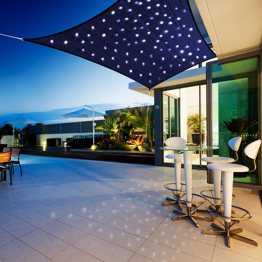 """Starry Sky"" Sun Awning During the day it's a refreshing sunshade. At night an enchanting starry sky."