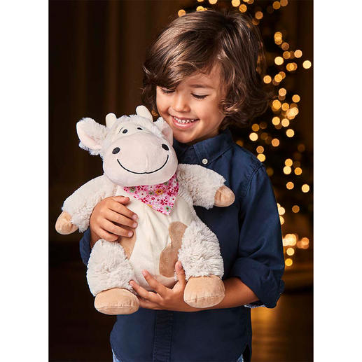 Swiss Pine Plush Cow - Swiss pine soft toy cow Emma helps children sleep deeply and peacefully.