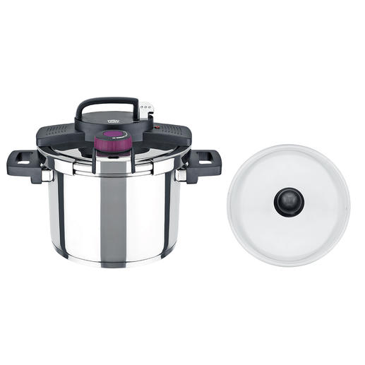 Thanks to the practical single-hand closure, the steam pressure lid can be opened easily.