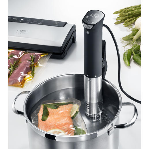 Caso Sous Vide Stick SV 1200 Smart The test winner among sous vide sticks. Great functionality. Great accuracy. Great safety.