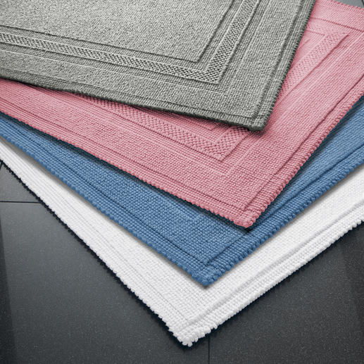 Suitable for every bath design: The Fluff-Free Bath Mats are available in 5 trendy colours.