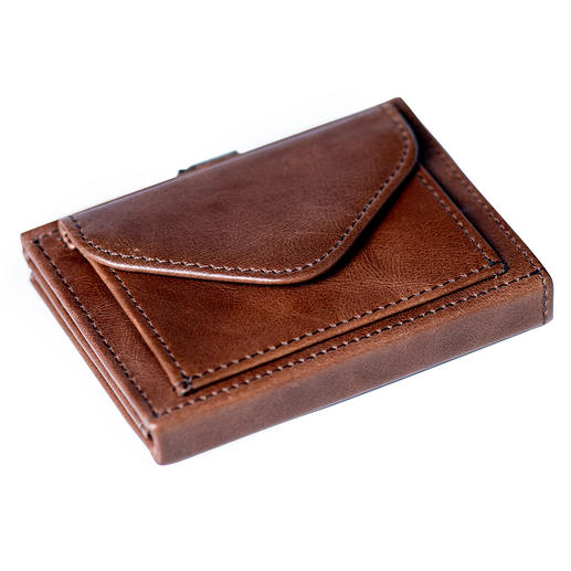 Multi Wallet, with Coin Compartment, Brown