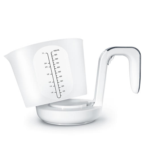 For easy cleaning, the measuring cup can be removed with a click fastener.