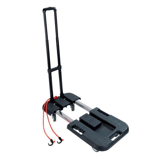 Foldable Transport Trolley - The ingenious folding transport trolley with extendable loading area.