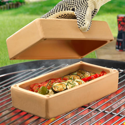 RÖMERTOPF® BBQ Brick All-rounder for tasty, low-fat and low-calorie barbecuing, braising, stewing, roasting, etc.