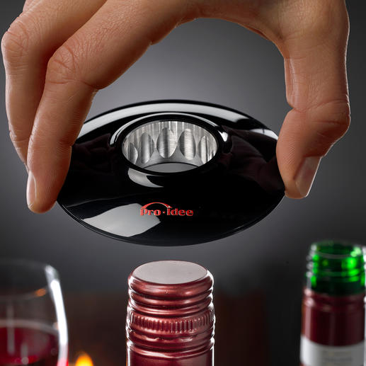 Wine-Donut® - A stylish way to open wines with screw caps.
