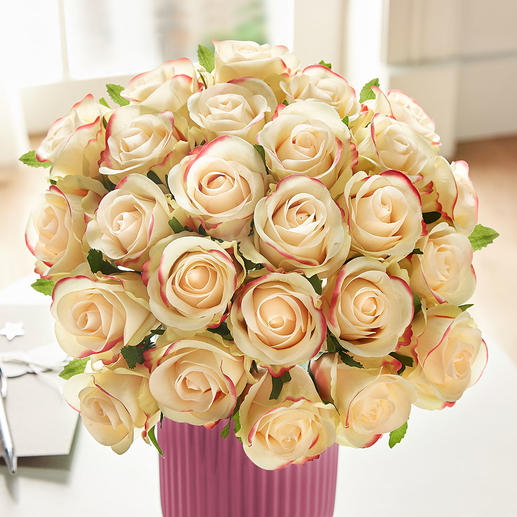 Bouquet of roses Lavish splendour of everlasting beauty in the most beautiful combination of colours of soft yellow and pink.