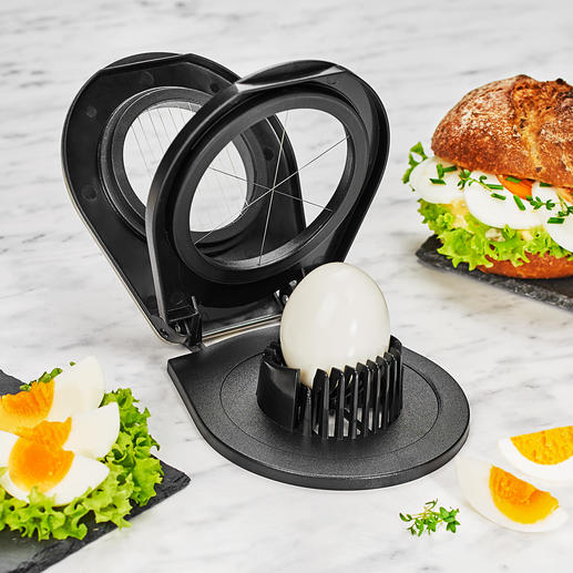 Gefu® Duo Egg Slicer - Prepare fine egg slices or decorative egg wedges with just one tool.