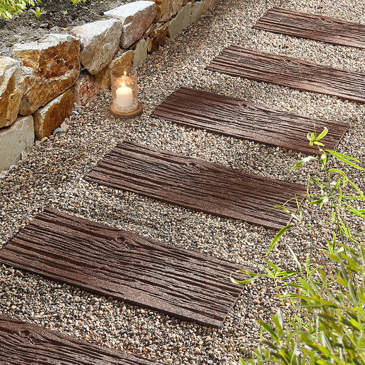 Recycled Stepping Stones, set of 4 Lighter than real stones. More durable than wood.