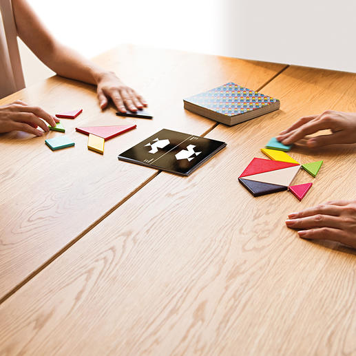 Tangram Challenge The classic ancient Chinese puzzle game. Now for a social get-together too. For up to 4 players. With 200 patterns plus solution.