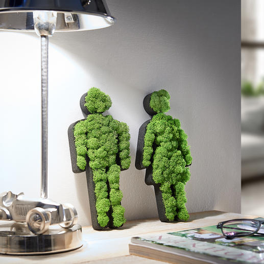 Woman/Man Moss Pictogram A decorative object at home. And a great gift. 100% natural, 0% care.