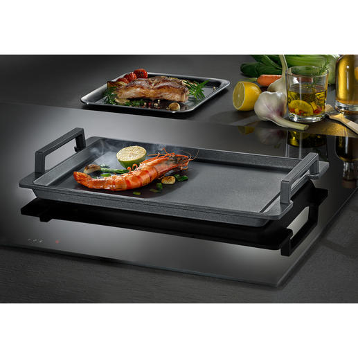 Teppanyaki Grill Plate Made of highly conducting cast aluminium with ceramic reinforced DURIT Resist non-stick coating.