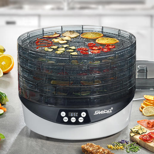 Rotating Food Dehydrator ED 8 - The technology of professional food dehydrators – now also available for home use.