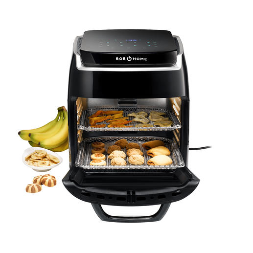All in one device: A 1,800W air fryer, grill with rotisserie, automatic dehydrator and convection oven with 5 settings.