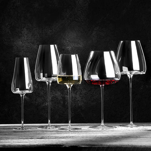 Wine Glasses Vision, Set of 2 - Character-matched glasses for optimal wine enjoyment.
