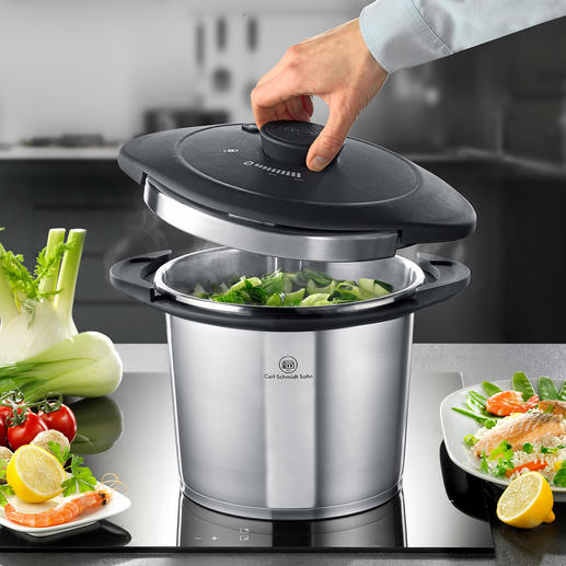 Galaxy Design Pressure Cooker - Versatile and beautiful: The single-handed pressure cooker in award-winning design.