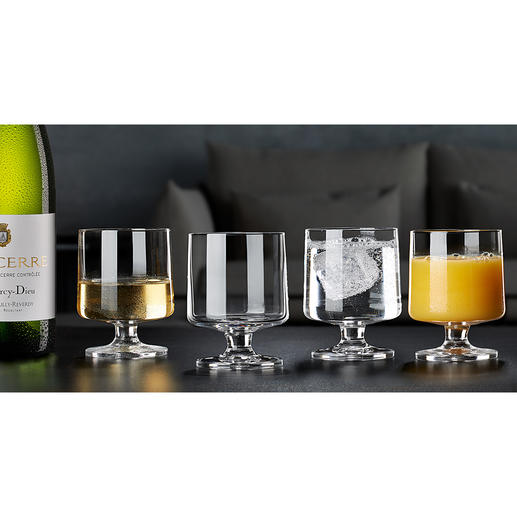 Holmegaard Designer Glas STUB, Set of 4 Retro trend: The designer glasses of the 1950s. Esthetic. Timeless. Simple.