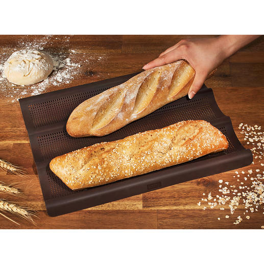 Silicone Baguette Baking Sheet Baguettes, fresh from the oven – just like in France. Crispy on the outside, fluffy on the inside.